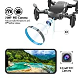 Drone with Camera, Conthfut C16W WIFI FPV Quadcopter with 720P Camera Mobile APP Control RC Helicopter for Kids and Beginners