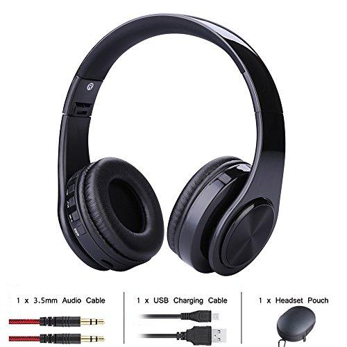 Wireless Bluetooth Headset, MMHDZ 2018 neue Spiel Musik Kopfhörer, drahtlose wiederaufladbare, Unterstützung für Plug-in-Karte, kann das Telefon für PC, Telefon (PC / Mac / Playstation / Mobile / VR / PSP) Geschenk: Aufbewahrungsbox schwarz