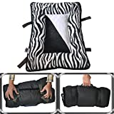 #8: Comfy-German Fleece Fabric HQ PolyFill Filled Foldable Dog/Cat Bed With Handle-XL (22X34