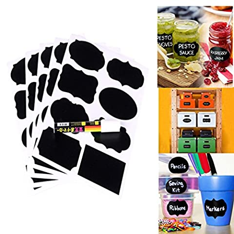 Af cloud Large Chalkboard Labels -Removable Blackboard Labels Organize Your Kitchen Bottles And Wedding Beers; With Erasable Chalk Markings High Quality Reusable Adhesives Blackboard Stickers For Kitchens And