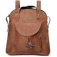 171474668330b Damen Retro Leder Vintage Rucksack Tasche 2 in 1 Lederrucksack Ledertasche  Lederrucksack Damen Schultertasche Leder Rucksack
