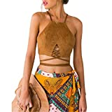 Frauen Sexy Tank tops Bustier BH Bra, LILICAT Damen Mode Crop Top Hemd Bluse Weste Cami Onlbera (Gelb, S)