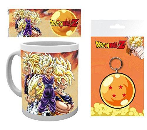 Set: Dragonball Z, Super Saiyans Foto-Tasse Kaffeetasse (9x8 cm) Inklusive 1 Dragonball Z...