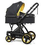 WYX-Stroller Kinderwagen Baby, Hochlandschafts-Kinderwagen, Zusammenklappbar, Kinderwagen, Trolley, Zweiwege-Kinderwagen, Maximale Belastbarkeit 15Kg,f