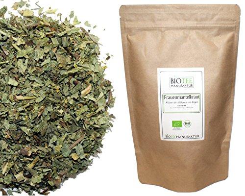 Frauenmantel-Tee -Bio 100g | Verschiedene Herkünfte Deutschland und Kroatien | Frauenmantelkraut, Kräutertee lose | aus kontrolliert Biologischem Anbau (aus Kroatischem Bio Anbau)