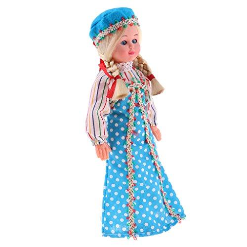 Sharplace Handgefertigt International Ethnische Minipuppen, Kostüme Mädchen Puppen, -