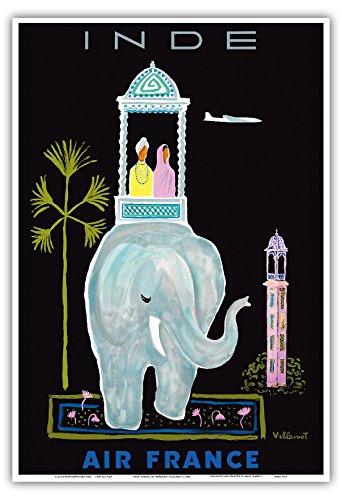 inde-india-air-france-elefante-indio-howdah-transporte-con-la-aerolinea-viaje-por-bernard-villemot-c
