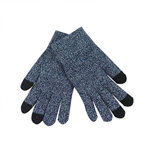 Femme Gants Multifonction Gloves Touch Screen Gants Sport à éCran Tactile, Mitaine Laine Chuad Hiver Pas Cher (Gris)