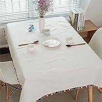 Pingenaneer Manteles Mesa Rectangular - Mantel Antimanchas Blancos - Del Medio Ambiente Conveniente para La Tabla de Cena de la Familia, Tienda De Café, Restaurante Del Hotel (100X140CM)