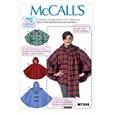 Unbekannt McCall 's Damen Easy Learn To Sew Schnittmuster 7202 Poncho + Gratis Minerva Crafts Craft Guide