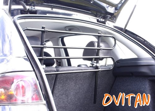 OVITAN Hundegitter fürs Auto 4 Streben universal zur Befestigung an den Kopfstützen der Rücksitzbank – für alle Automarken geeignet – Modell: H04 - 2