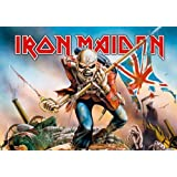 Iron Maiden - Trooper - Posterflagge 100% Polyester - Grösse 75x110 cm