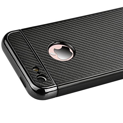 Yokata Apple iPhone 5 / 5s / SE Hülle Weich Silikon Case mit Amovible Bumper Schutzhülle Dünne Case Cover + 1 X Capacitive Pen - Rose Gold Schwarz