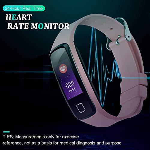 Imagen de pulsera de actividad inteligente impermeable ip67, agptek reloj deportivo con gps podómetro, monitor de ritmo, calorías, sueño notificación etc para hombre mujer niños w05 rosa  alternativa