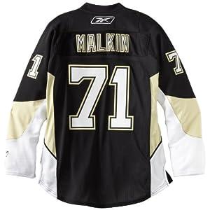 Reebok Evgeni Malkin Pittsburgh Penguins Black Premier Jersey