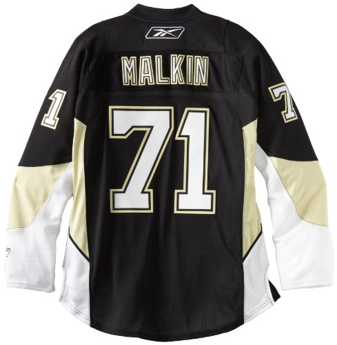 Evgeni Malkin Pittsburgh Penguins Black Reebok Premier Jersey Maglia