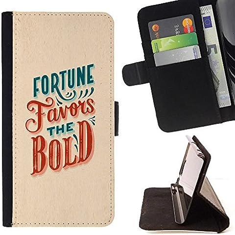 All Phone Most Case / Cellulare Smartphone cassa del cuoio della calotta di protezione di caso Custodia protettiva per HTC ONE A9 // Fortune Favors The Bold Red Teal Inspiring