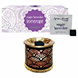 Aromafume Magic Lavender Incense Bricks (24 Pcs) & Rainbow Exotic Incense Diffuser