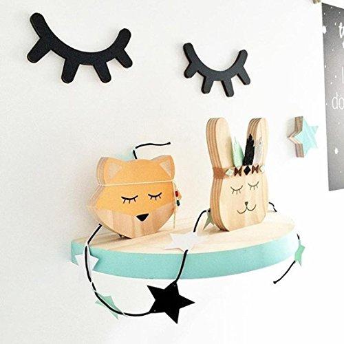 Longra Wandaufkleber 1 paar Wimpern nordischen Modestil für Fotografie Kinder Zimmer Dekor Wand hängenden Aufkleber Ornament Home Decor Wandtattoo Wandsticker (E) (Land-wand-dekor-aufkleber)