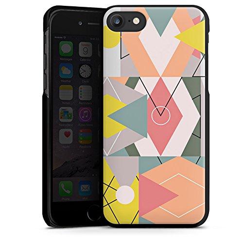 Apple iPhone X Silikon Hülle Case Schutzhülle Grafik Geometrisch Art Hard Case schwarz