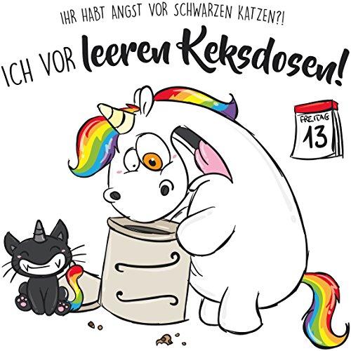 Bilderwelten Wandtattoo Pummeleinhorn Leere Keksdose!, Sticker Wandtattoos Wandsticker Wandbild, Größe: 100cm x 100cm