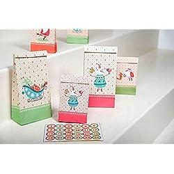 Pajoma 50212, para regalo de Navidad, bolsas de regalo, 2 tamaños, incluye 24 unidades