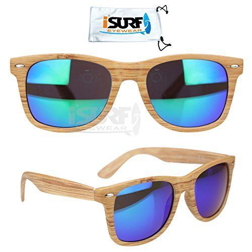 occhiali-da-sole-wayfarer-effetto-legno-specchio-specchiati-outfit-isurf-specchio-verde