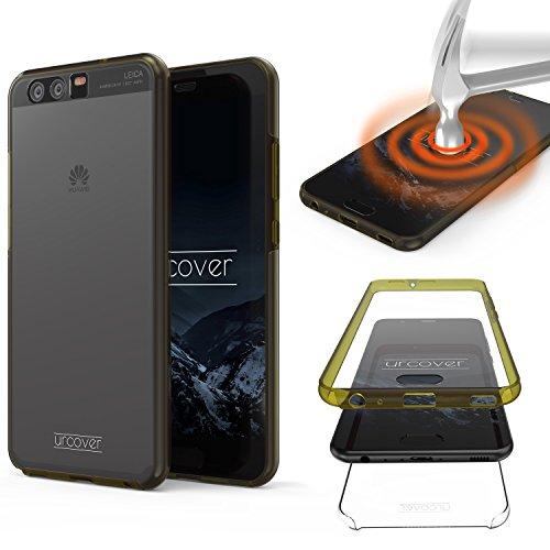 Urcover Touch Case 2.0 kompatibel mit Huawei P10 [Upgrade] 360 Grad R&um-Schutz Cover [Unbreakable Case bekannt aus Galileo] Crystal Clear Full Body Handy-Tasche Schale Hülle Champagner Gold