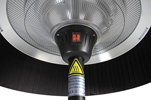 Firefly 2.100 Watt Infrarot-Heizstrahler (Halogen) Terrassenheizung, freistehend, 3 Leistungsstufen, schwarz - 3