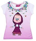 Mascha und der Bär Mädchen T-Shirt - rosa - 104