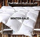 Vitalobett Canadian-Dreams Winter Extra Warm Daunendecke 135x200 Daunenbett, 1140g GÄNSEDAUNEN Hochstegbett 8cm Hohe Innenstege Wärmeklasse 4 (135x200 cm, weiß)