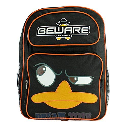 Disney XD Phineas and Ferb 16' Large School Backpack-Beware The Stare Perry
