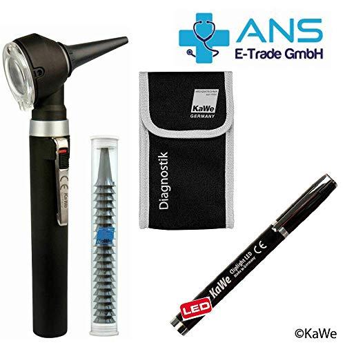 KaWe Piccolight C mit gratis Diagnostikleuchte LED, Tasche & 20 Einmaltrichtern - Farbe Night