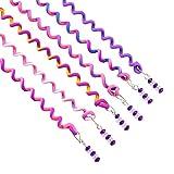 Zantec 6 Pcs Filles Serré Cheveux Boucles Outils Petit Twist Tresse Cheveux Décoration Spirale Outils