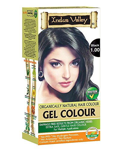 Indus Valley Natural Black Hair Colour- 1.0 ( No Harmful Chemical Like Ppd, Ammonia, Hydrogen Peroxide And Heavy Metal)