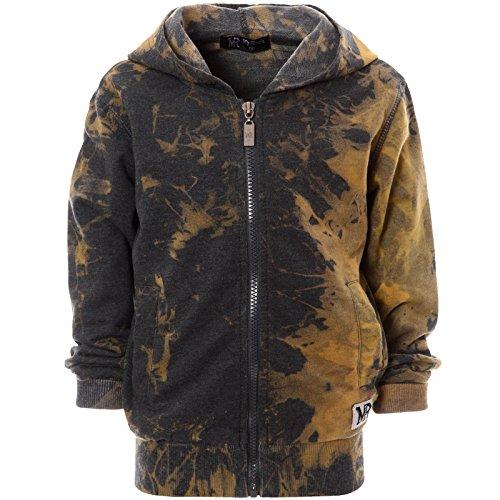Jungen Zipper Sweatjacke Hoodie Kapuzen-Pullover Jacke Kinder Sweatshirt 21377, Farbe:Braun;Größe:140 (Kinder Braun Hoodie)