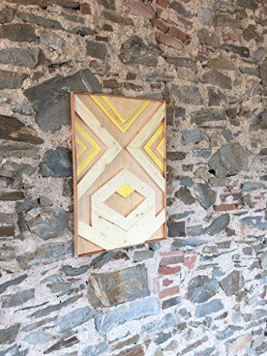 Cuadro Geometrico Decorativo de Madera