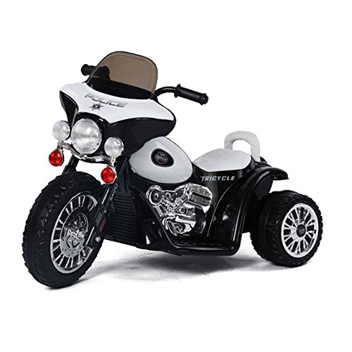HSP Himoto Kinder Elektro-Motorrad Polizeimotorrad Police-Edition mit Beleuchtung, Soundeffekt, 6V Power Akku und Motor