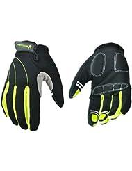 Tangda Guantes Deportivos Protección Completa Transpirable Antideslizante para Moto MTB Bicicleta Ciclismo Competición Fitness Ejercicios Deportes Color Negro/verde L