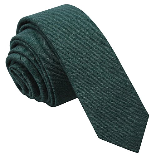 James Alexander Premium Plain Ottoman Wool Men's Formal Business Casual Wedding Skinny Narrow Thin 5cm Tie Necktie Available in Various Colours