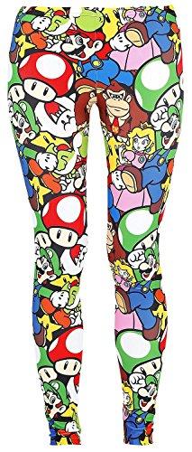 Nintendo Super Mario Bros Luigi and Friends All-Over Print Leggings (Large) - Parent