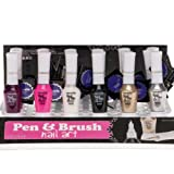 Super Nagellack PEN & BRUSH Nail Art Stift+Pinsel in einem 6 farben SET. WoW