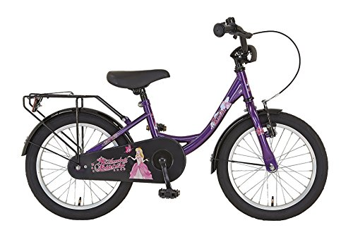 """Prophete Kinderrad, 16 """", EINSTEIGER, Dekor Annabelle, vorne V-Bremse, hinten Rücktrittbremse, Einrohr-Rahmen, 23 cm RH, lila"""