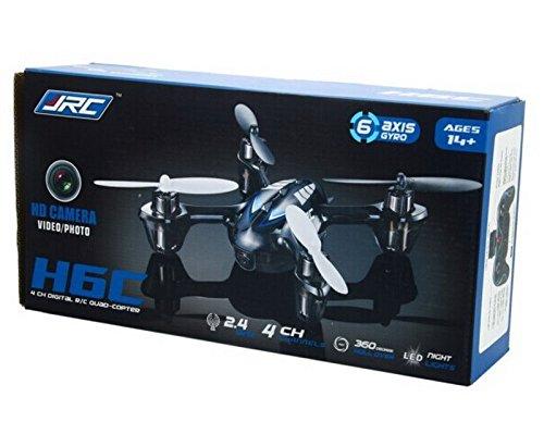 BlueBeach JJRC H6C 2,4 GHz 6-Achsen Gyro Quadcopter mit 2.0MP HD Kamera und LCD-Monitor Sender (2GB TF-Karte und Kartenleser enthalten) (Blau) - 9