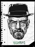 onthewall Breaking Bad Heisenberg Art Poster Print par Mike Winnard (Msp0050)