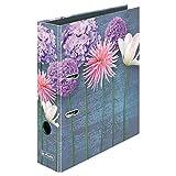 Herlitz 50017133 Motivordner maX.file, A4, 8 cm, Motiv: 1 Stück Blumen-Mix