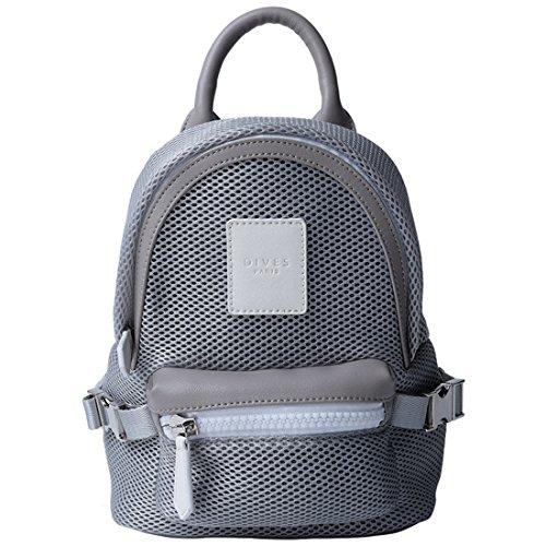9f475c48429a3 GWELL Modern Sport Mini Rucksack Tasche Schulrucksack Reise Outdoor  Freizeittasche für Damen Mädchen Jungen grau grau