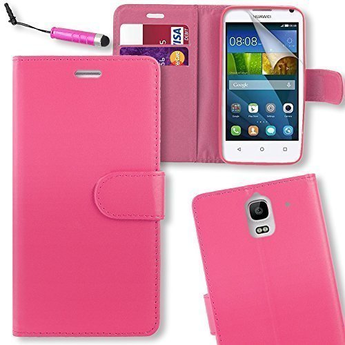 connect-zone-huawei-ascend-y3-pink-pu-leather-flip-wallet-case-cover-pouch-with-screen-protector-pol