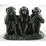 Wise Monkeys Coal Model - Hand Crafted - 592