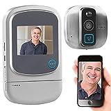 Somikon Türspion Kamera WLAN: Digitaler HD-Türspion mit Klingel, Bewegungsmelder, WiFi und App (Digitaler Türspion WLAN)